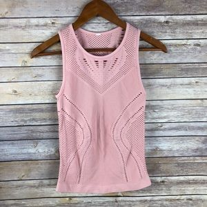 ALO | Lark Mesh Tank Top in Powder Pink Size Small